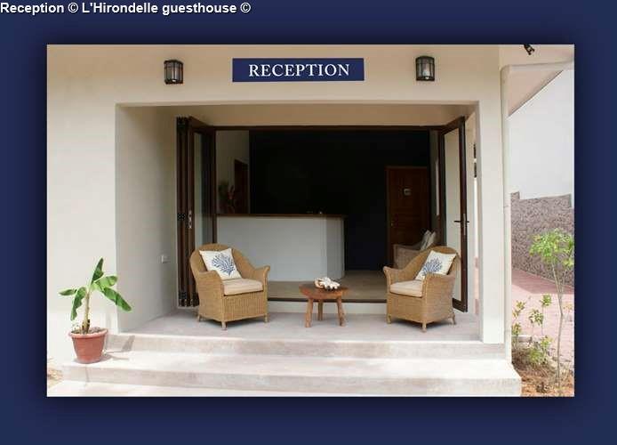 Reception L'Hirondelle guesthouse (Praslin)