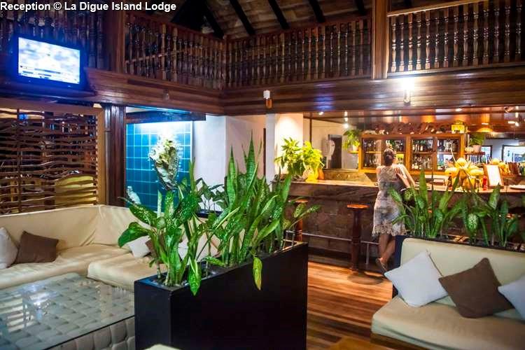 Reception of La Digue Island Lodge