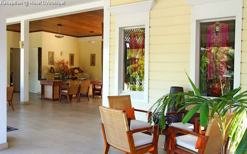 Reception of Hotel L'Archipel (Praslin)