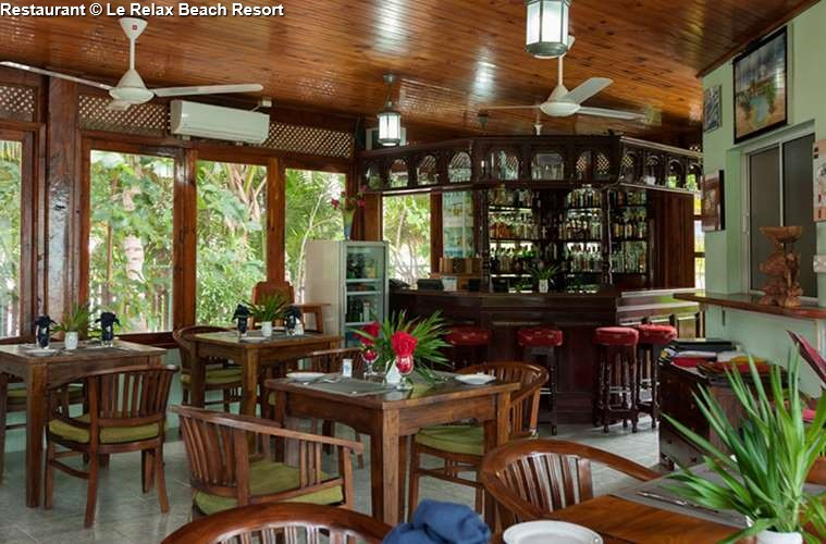 Restaurant of Le Relax Beach Resort (Praslin)