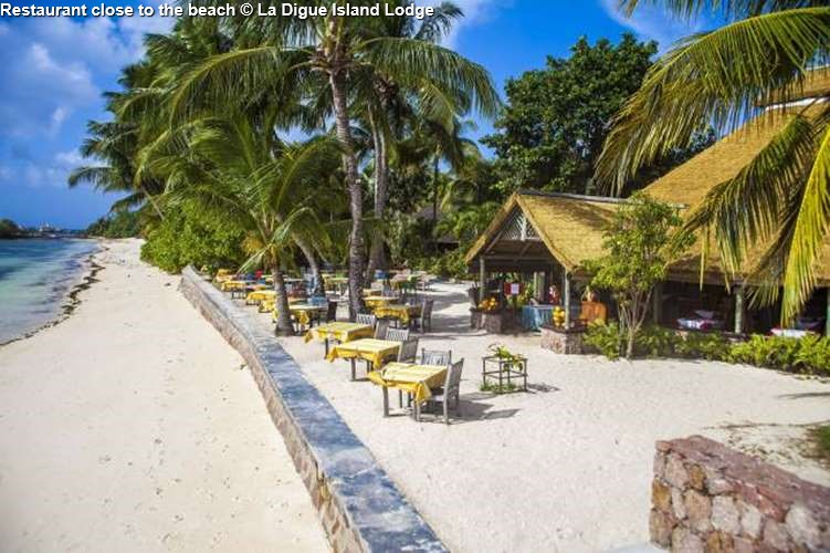 Restaurant of La Digue Island Lodge close to the beach