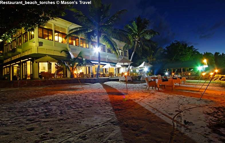 Beach at night at Hotel L'Archipel (Praslin)