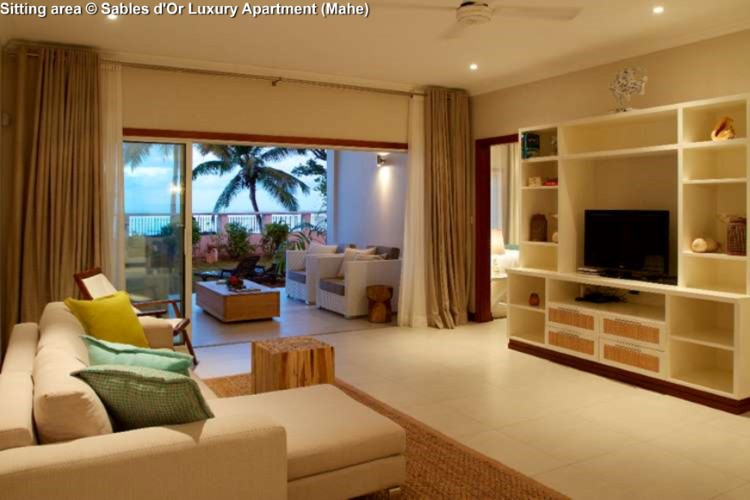Sitting area Sables d'Or Luxury Apartment (Mahe)