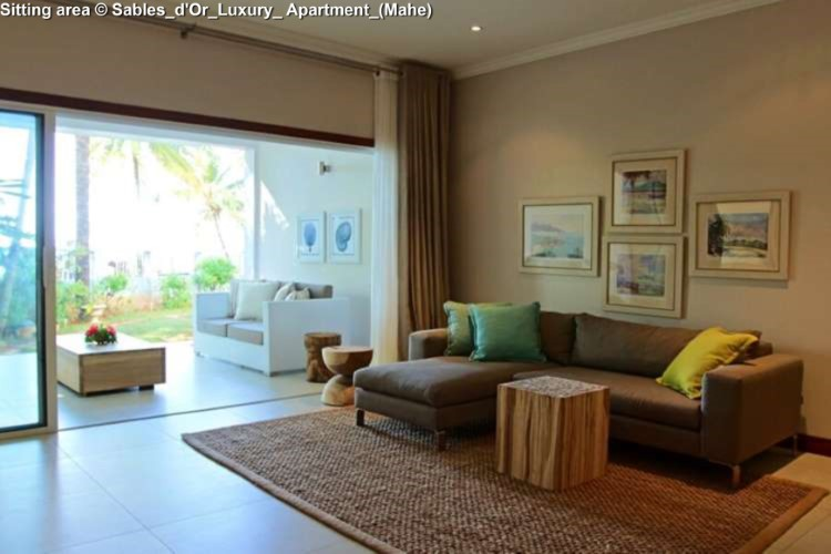Sitting area © Sables_d'Or_Luxury_ Apartment_(Mahe)
