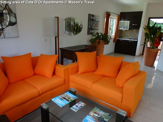 Sitting area of Cote D'Or Apartments (Praslin)