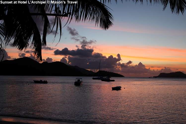 Sunset at Hotel L'Archipel (Praslin)