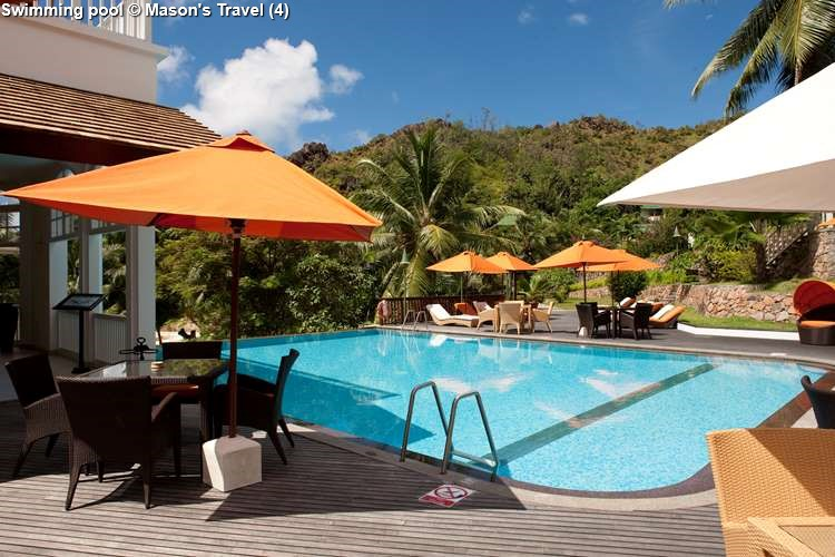 Swimming pool at Hotel L'Archipel (Praslin)
