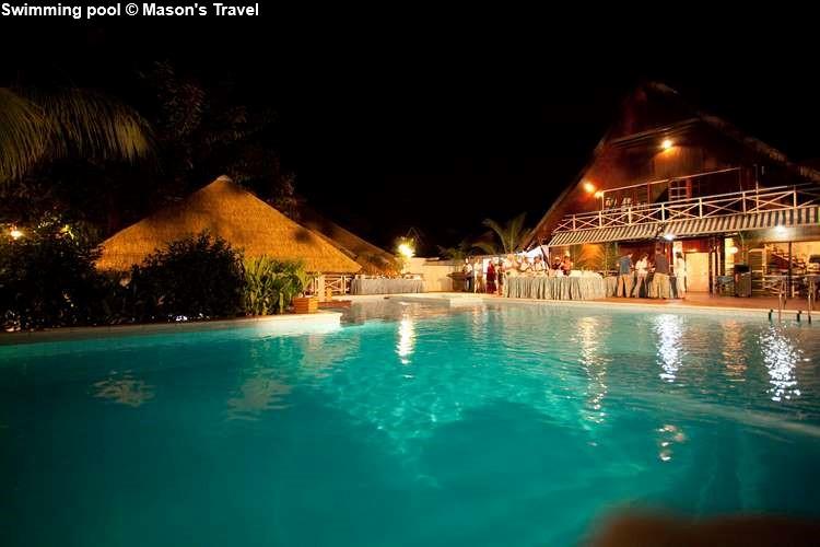 Swimming pool of La Digue Island Lodge