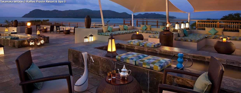 Takamaka terrace © Raffles Praslin Resort & Spa ©