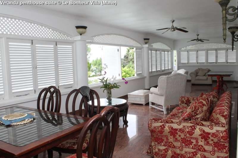 Veranda penthouse suite © Le Bonheur Villa (Mahe)