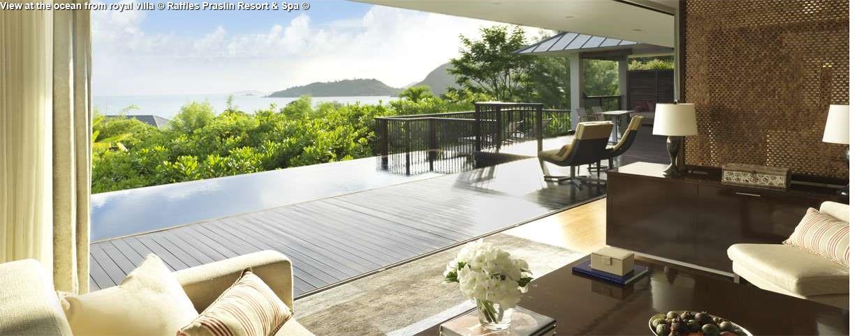 View at the ocean from royal villa © Raffles Praslin Resort & Spa ©