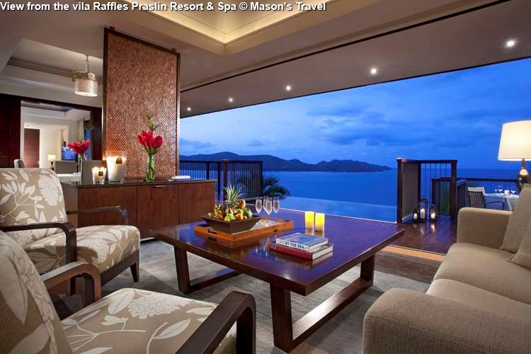 View from the vila Raffles Praslin Resort & Spa (Praslin)