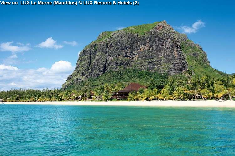 View on LUX Le Morne (Mauritius)