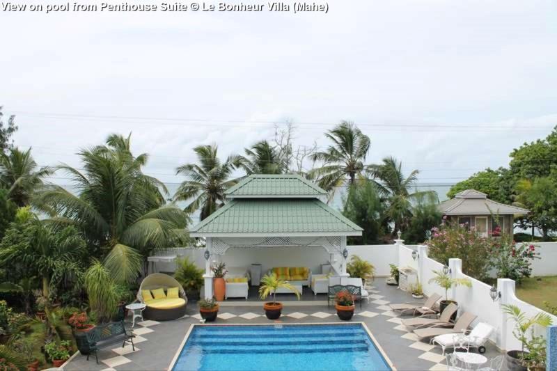 View on pool from Penthouse Suite © Le Bonheur Villa (Mahe)