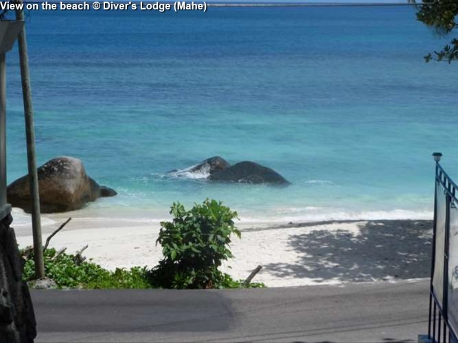 View on the beach © Diver's Lodge (Mahe)