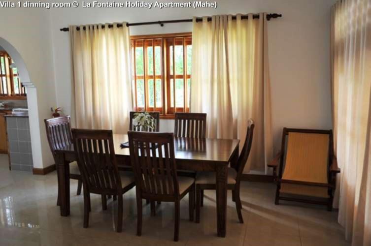 Villa 1 dinning room © La Fontaine Holiday Apartment (Mahe)