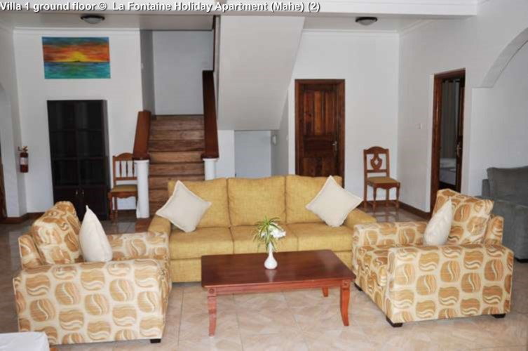 Villa 1 ground floor © La Fontaine Holiday Apartment (Mahe)