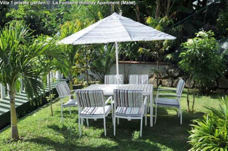 Villa 1 private garden © La Fontaine Holiday Apartment (Mahe)