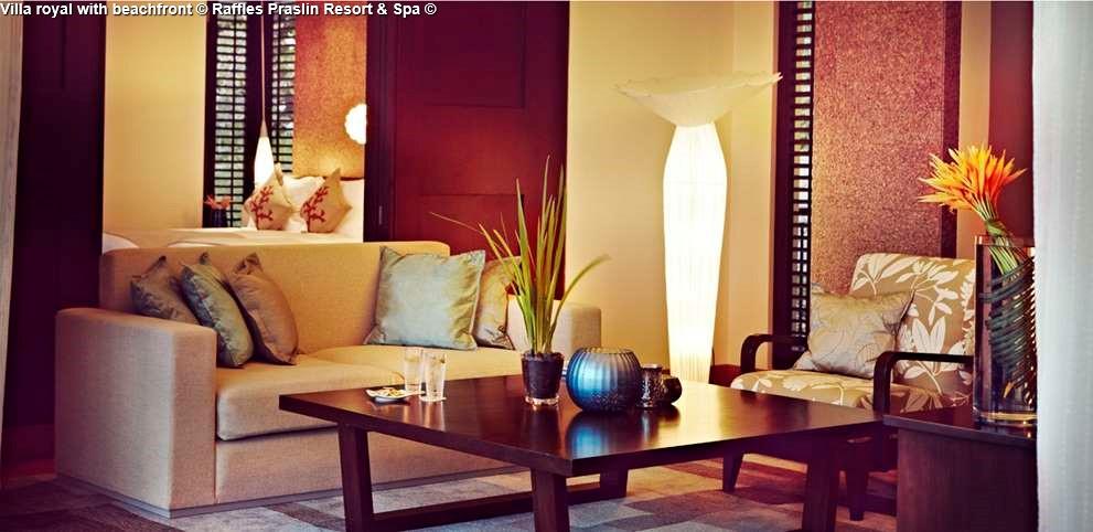 Villa royal with beachfront © Raffles Praslin Resort & Spa ©