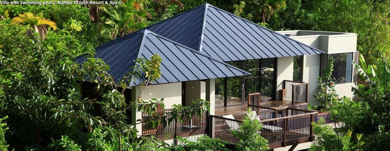 Villa with swimming pool © Raffles Praslin Resort & Spa ©