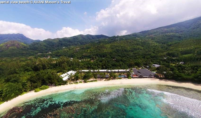 aerial view Beach AVANI Seychelles Barbarons Resort & Spa