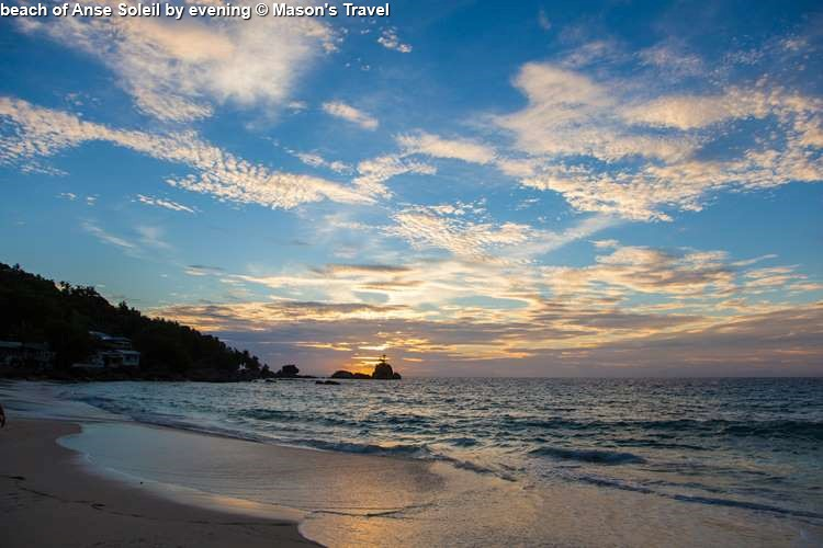 beach of Anse Soleil by evening © Mason's Travel
