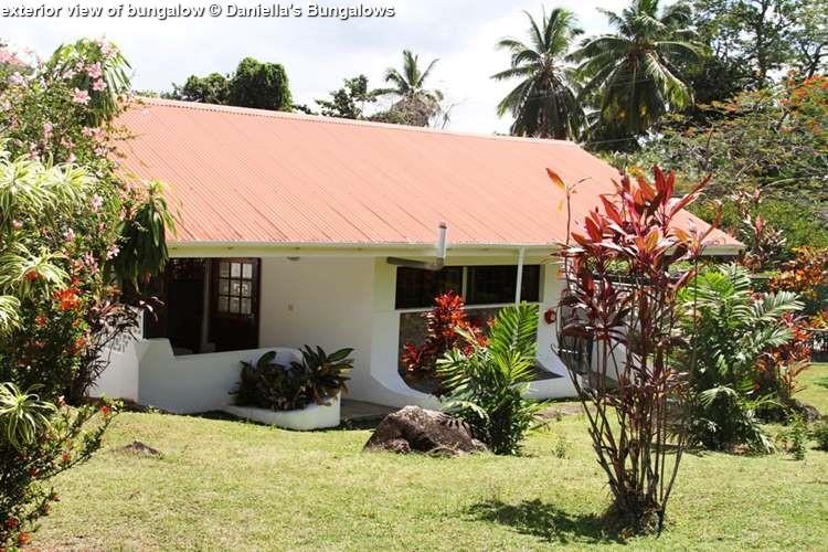 exterior view of Daniella's bungalows