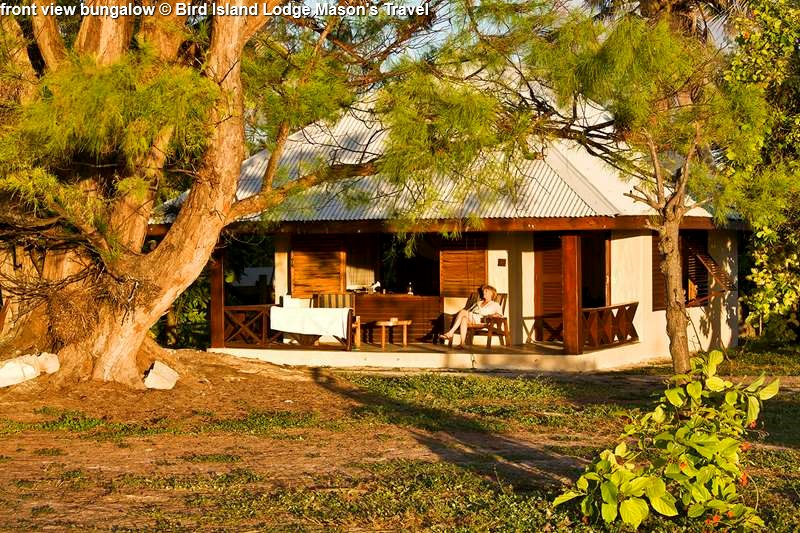 front view bungalow Bird Island Lodge