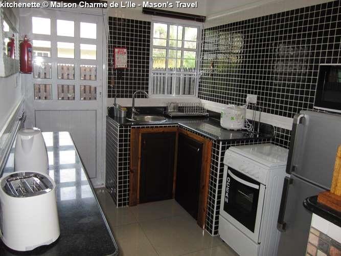 kitchenette Maison Charme de L'Ile