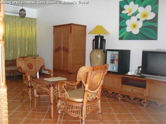 sitting area suite Chateau Sans Souci