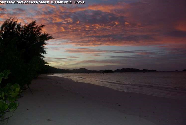 Sunset at Heliconia Grove (Praslin)