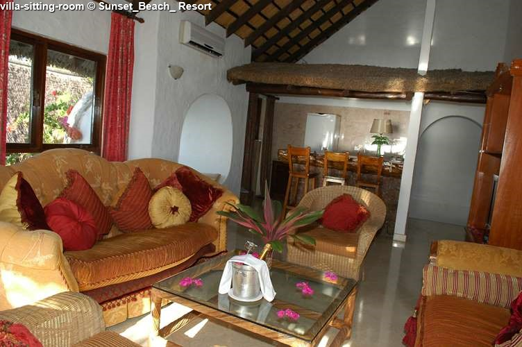 villa-sitting-room Sunset_Beach_ Resort