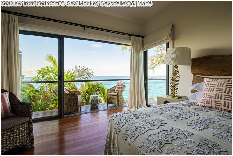 seaview from bedroom Sea Monkey Seychelles @ Mahé