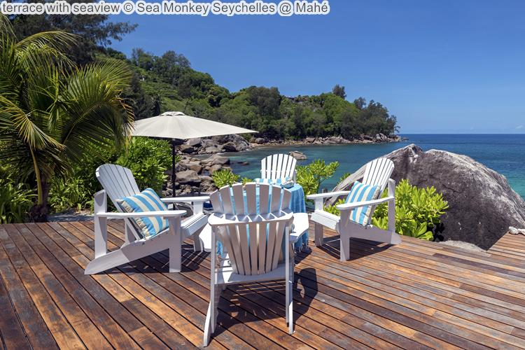 terrace with seaview Sea Monkey Seychelles @ Mahé