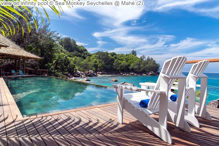 view on infinity pool Sea Monkey Seychelles @ Mahé